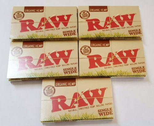 Lot Of 5X100 Booklets Raw Organic Hemp Unrefined Rolling Papers Small 70Mm - Rolling Papers