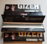 Gizeh King Size Slim Rolling Papers+Tips 26 Booklets Of 34 Leaves Magnetic - Rolling Papers