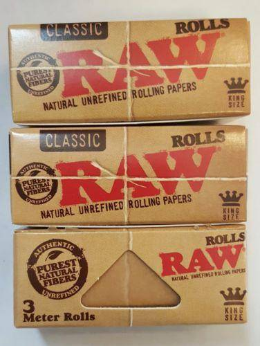 Raw Classic Rolls 3Pcs Of 3Meter Each Rolling Papers King Size - Rolling Papers