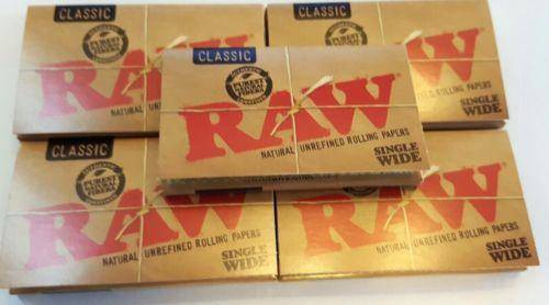 Lot Of 5X100 Booklets Raw Natural Unrefined Rolling Papers Small 70Mm - Rolling Papers