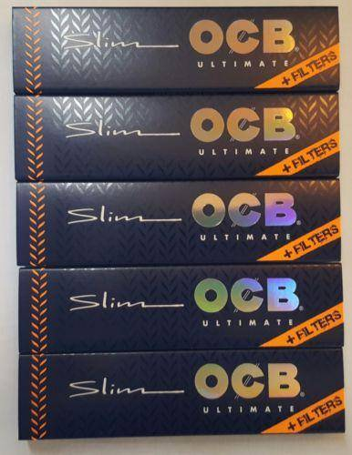 Ocb Ultimate King Size Thinnest Rolling Paper+Filter Tips 5 Booklets - Rolling Papers
