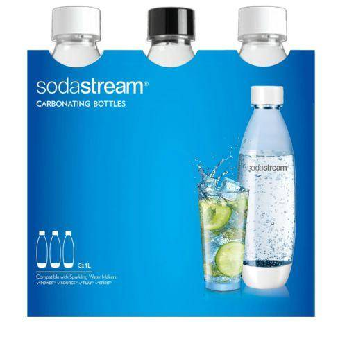 Sodastream Carbonating Bottles Pack Of 3 1L Each - Cool Accessories