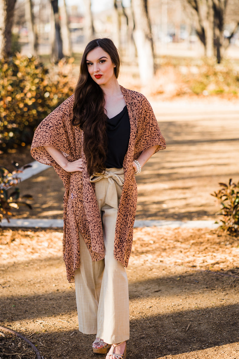 animal print spring outfit