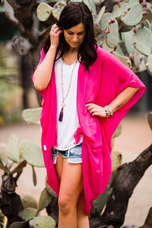 Hot Pink Duster