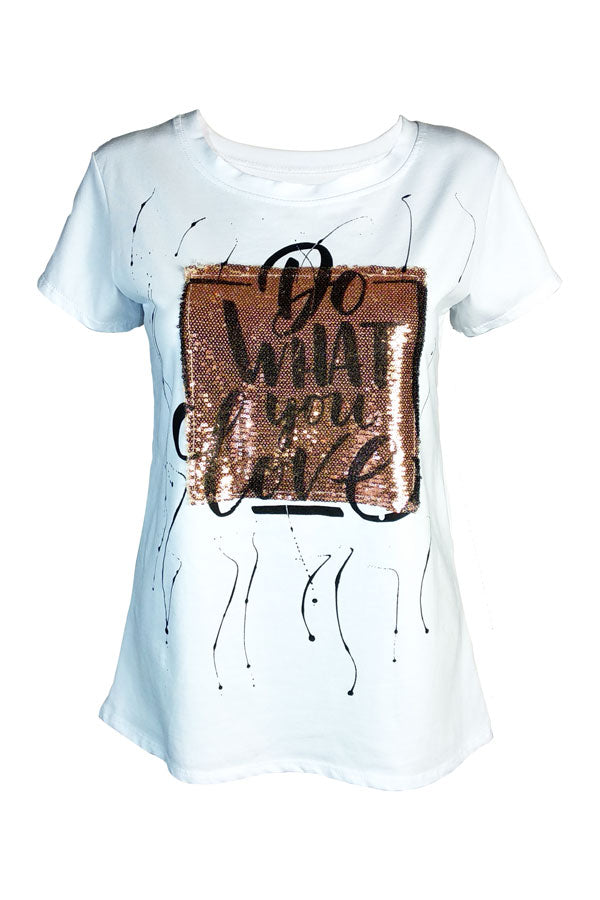Camiseta DO WHAT YOU LOVE - VdM Atelier