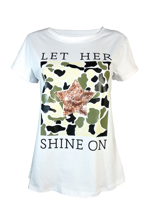 Camiseta LET HER SHINE ON - VdM Atelier
