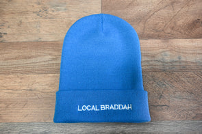Cuffed Knit Beanie - Blue