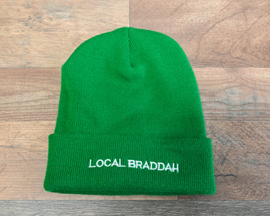 Cuffed Knit Beanie - Green