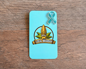 Hope Ribbon Pin - Teal