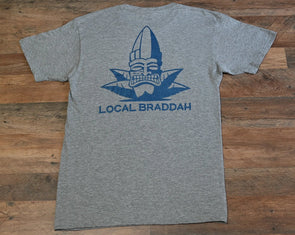 Gray Heather Local Braddah Unisex Tee