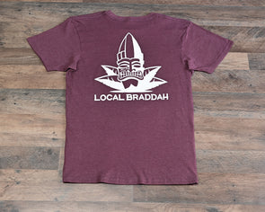 Local Braddah Unisex Tee - Maroon Heather