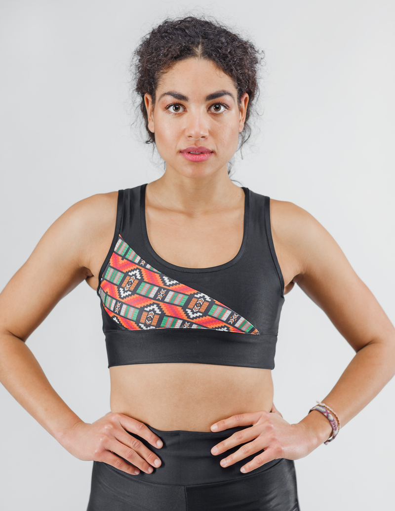 Bogolan Non-See-Through Sports Bra - Urbeon