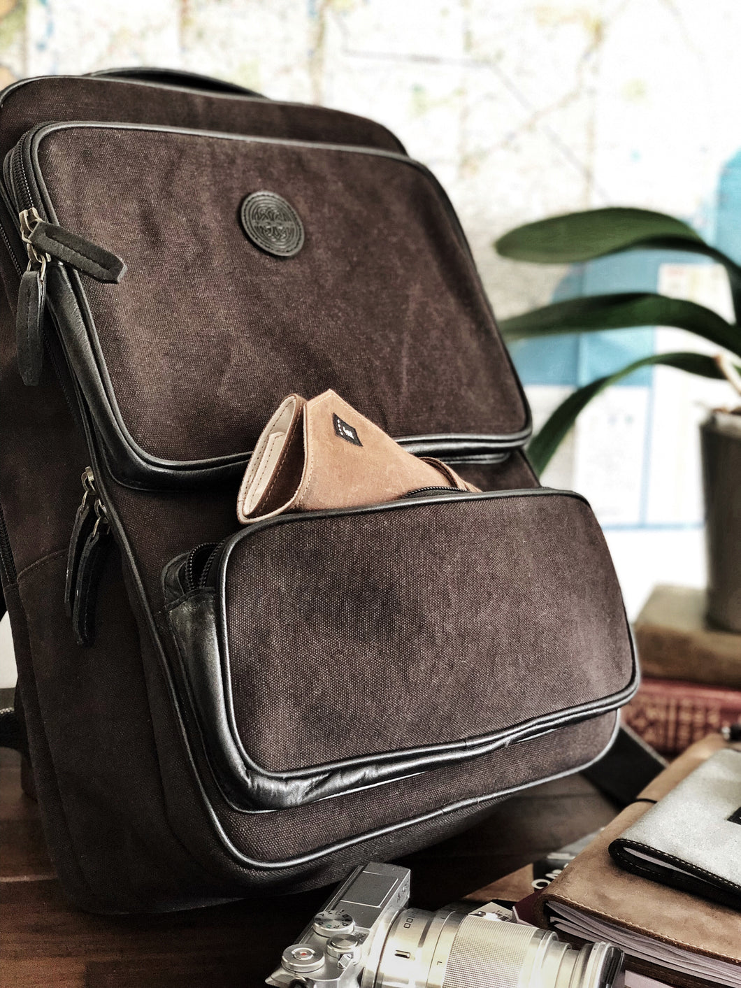 Franklin-Christoph Fortis Backpack Iron Brown
