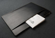 Load image into Gallery viewer, Document Folder - Black Leather