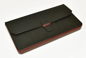 New Penvelope 12 Black Merlot Leather
