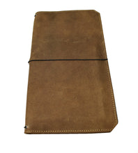 "Load image into Gallery viewer, ""VN"" - Vagabond Boot Brown Leather Notebook Covers"