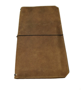 """VN"" - Vagabond Boot Brown Leather Notebook Covers"
