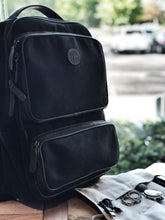 Load image into Gallery viewer, Franklin-Christoph Fortis Backpack Black Canvas