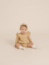 Longsleeve Flutter Dress | honey - Quincy Mae | Baby Basics | Baby Clothing | Organic Baby Clothes | Modern Baby Boy Clothes |