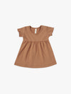 Short Sleeve Baby Dress | rust - Quincy Mae | Baby Basics | Baby Clothing | Organic Baby Clothes | Modern Baby Boy Clothes |
