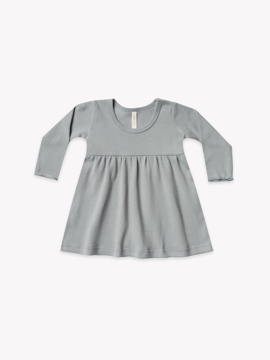 longsleeve baby dress | dusty blue