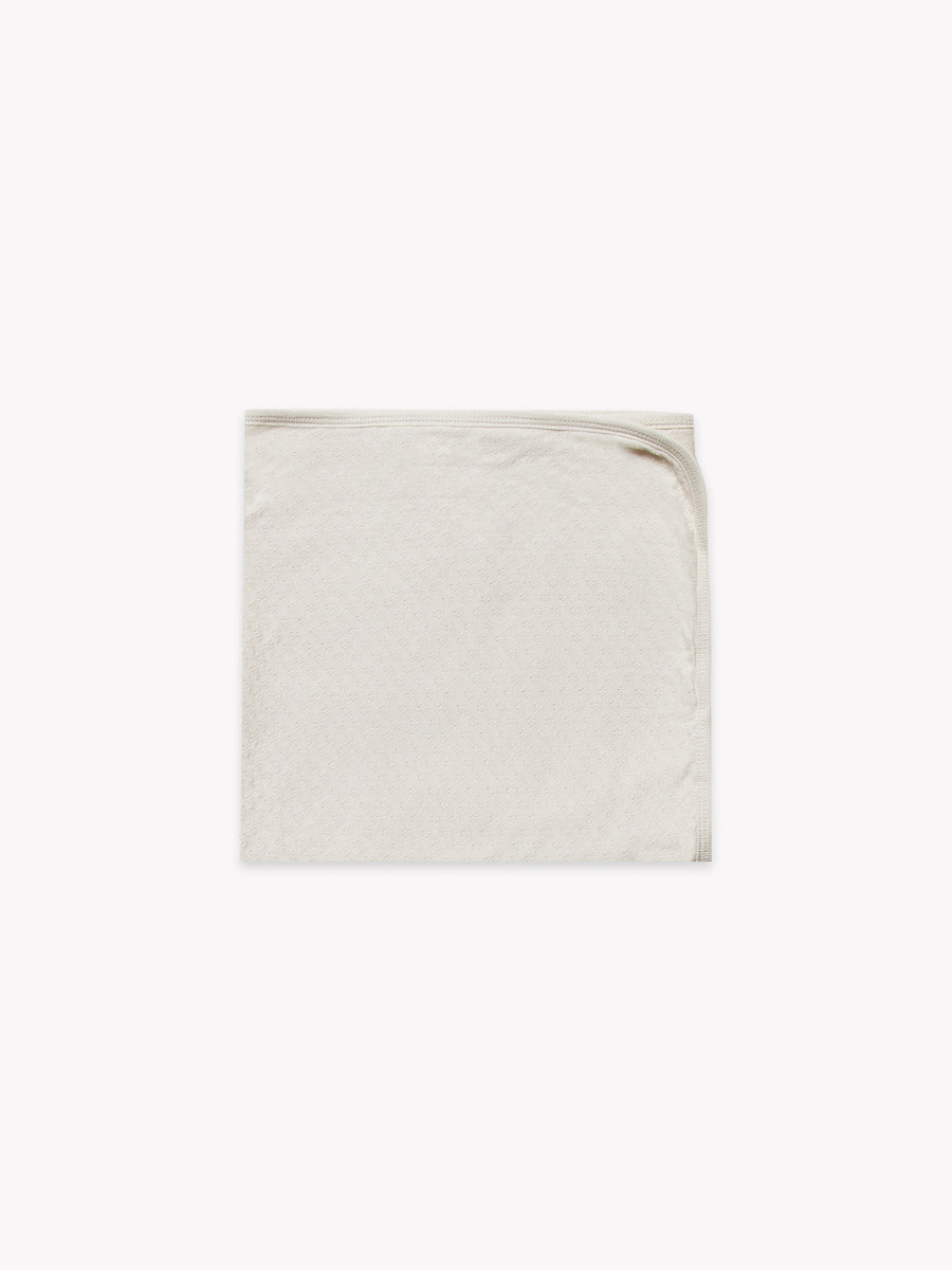 pointelle baby blanket | pebble - Quincy Mae | Baby Basics | Baby Clothing | Organic Baby Clothes | Modern Baby Boy Clothes |