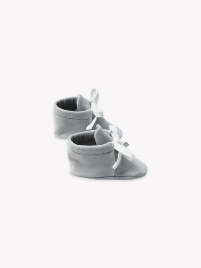 baby booties | dusty blue - Quincy Mae | Baby Basics | Baby Clothing | Organic Baby Clothes | Modern Baby Boy Clothes |