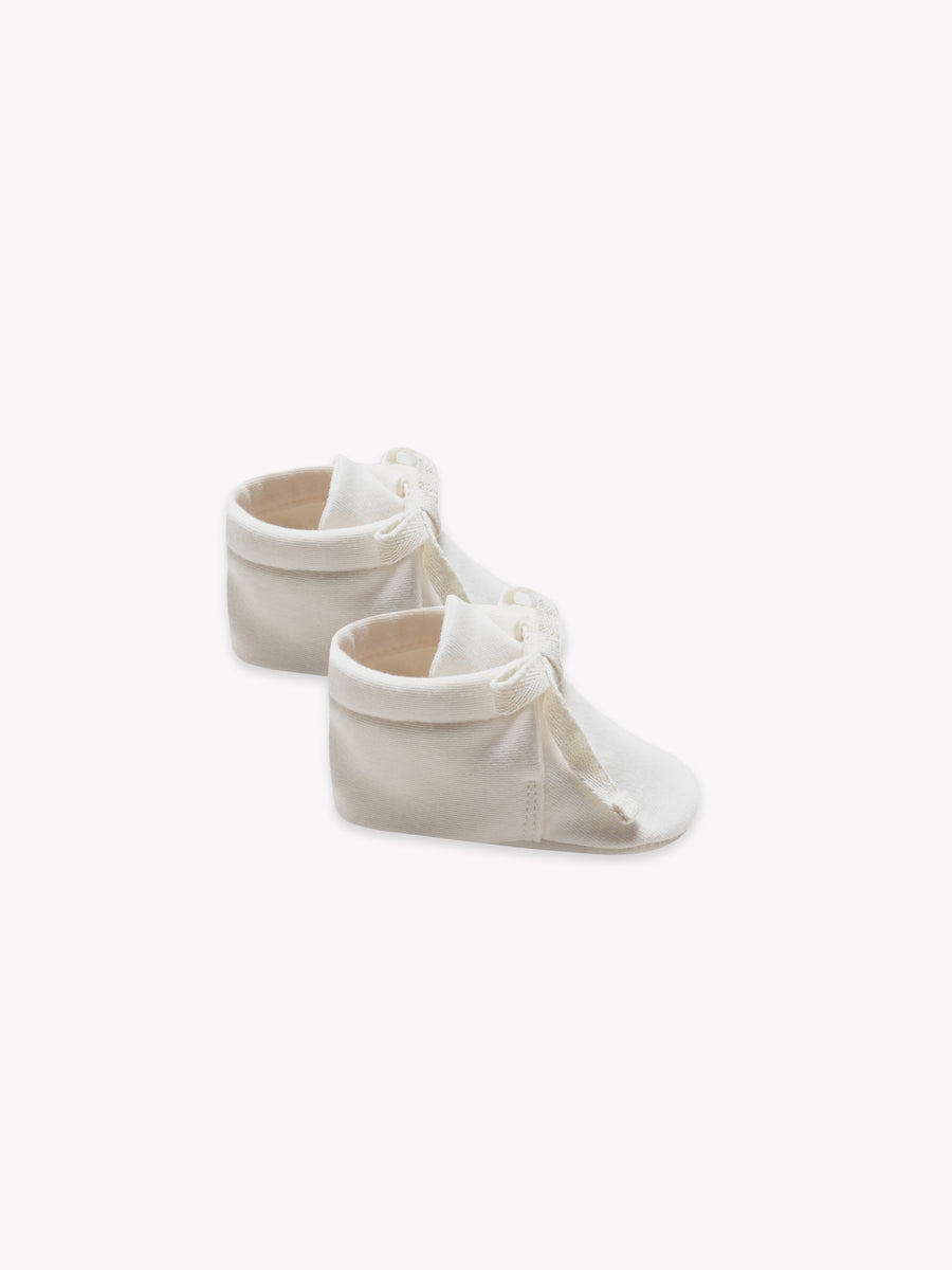 baby booties | ivory