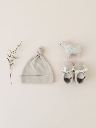Knotted Baby Hat | Bone