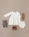 longsleeve baby dress | ivory
