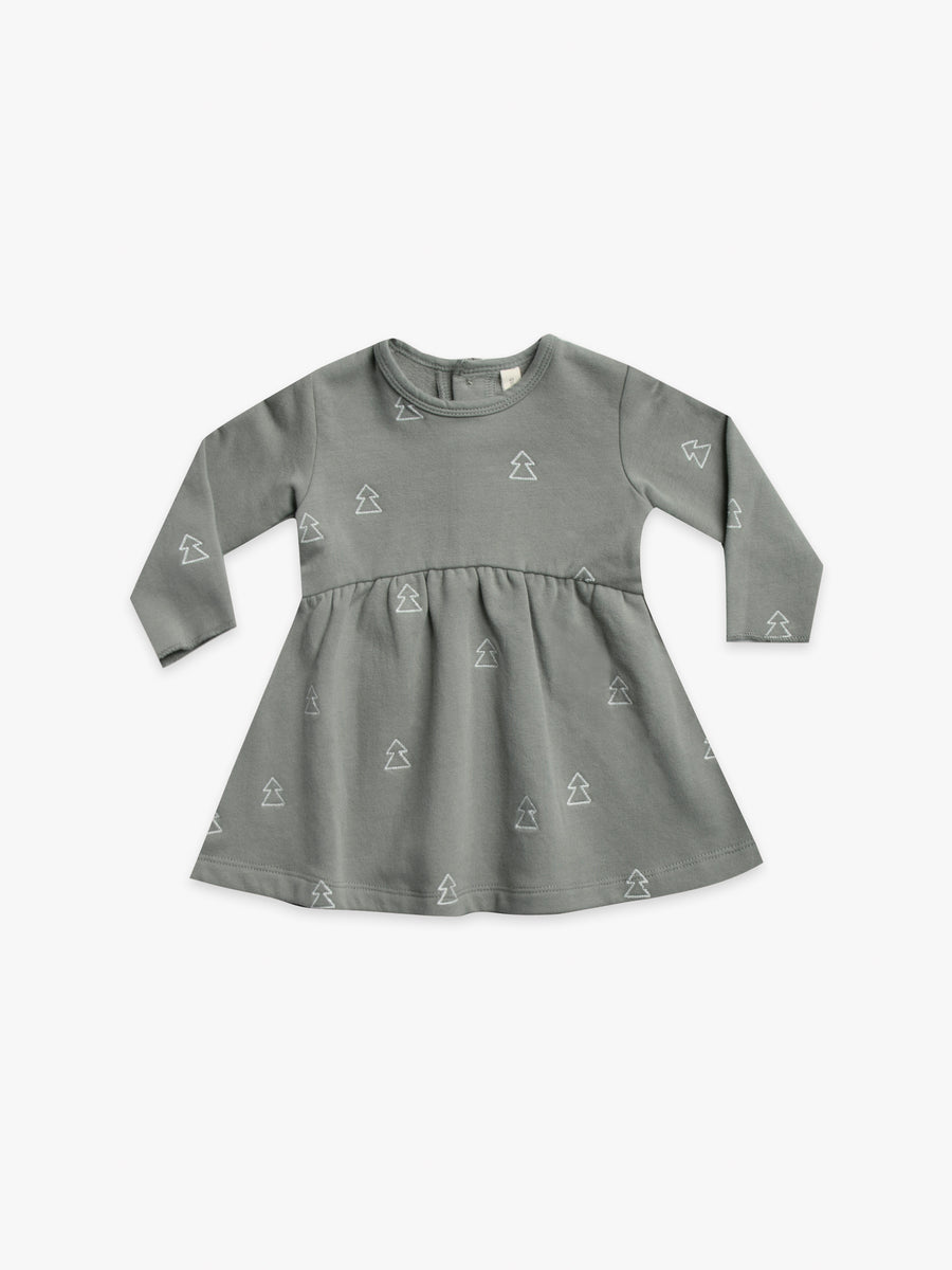 fleece dress | eucalyptus