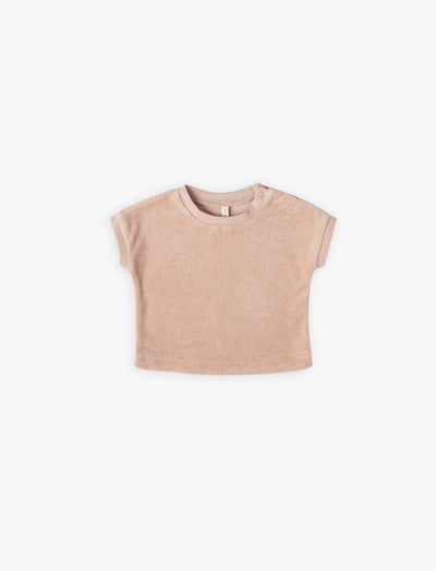 Terry Tee | petal - Quincy Mae | Baby Basics | Baby Clothing | Organic Baby Clothes | Modern Baby Boy Clothes |