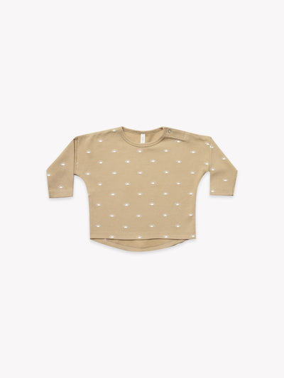 Longsleeve Baby Tee | Honey - Quincy Mae | Baby Basics | Baby Clothing | Organic Baby Clothes | Modern Baby Boy Clothes |