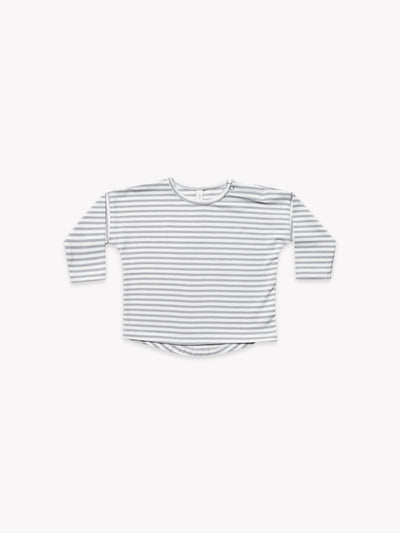 Longsleeve Baby Tee | Grey Stripe - Quincy Mae | Baby Basics | Baby Clothing | Organic Baby Clothes | Modern Baby Boy Clothes |