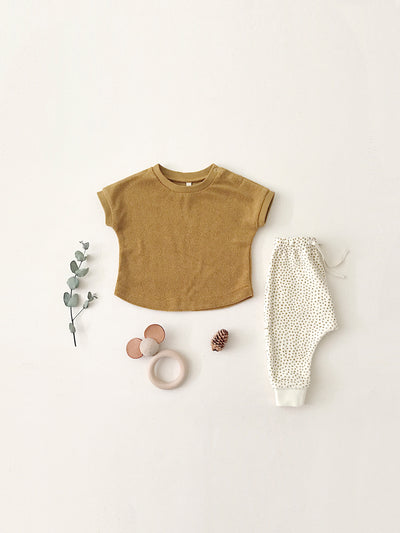 Terry Tee | ochre - Quincy Mae | Baby Basics | Baby Clothing | Organic Baby Clothes | Modern Baby Boy Clothes |
