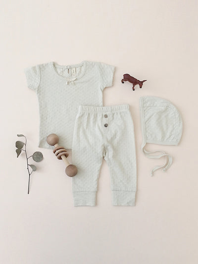 Pointelle Baby Tee | Pebble