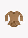 Pointelle Skirted Bodysuit | walnut
