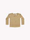 longsleeve pointelle tee | honey