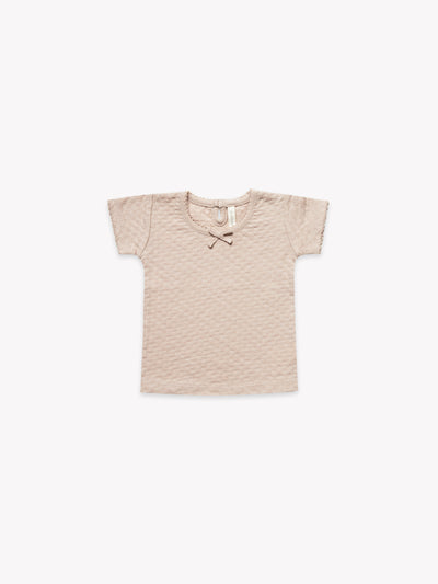 Pointelle Baby Tee | Rose
