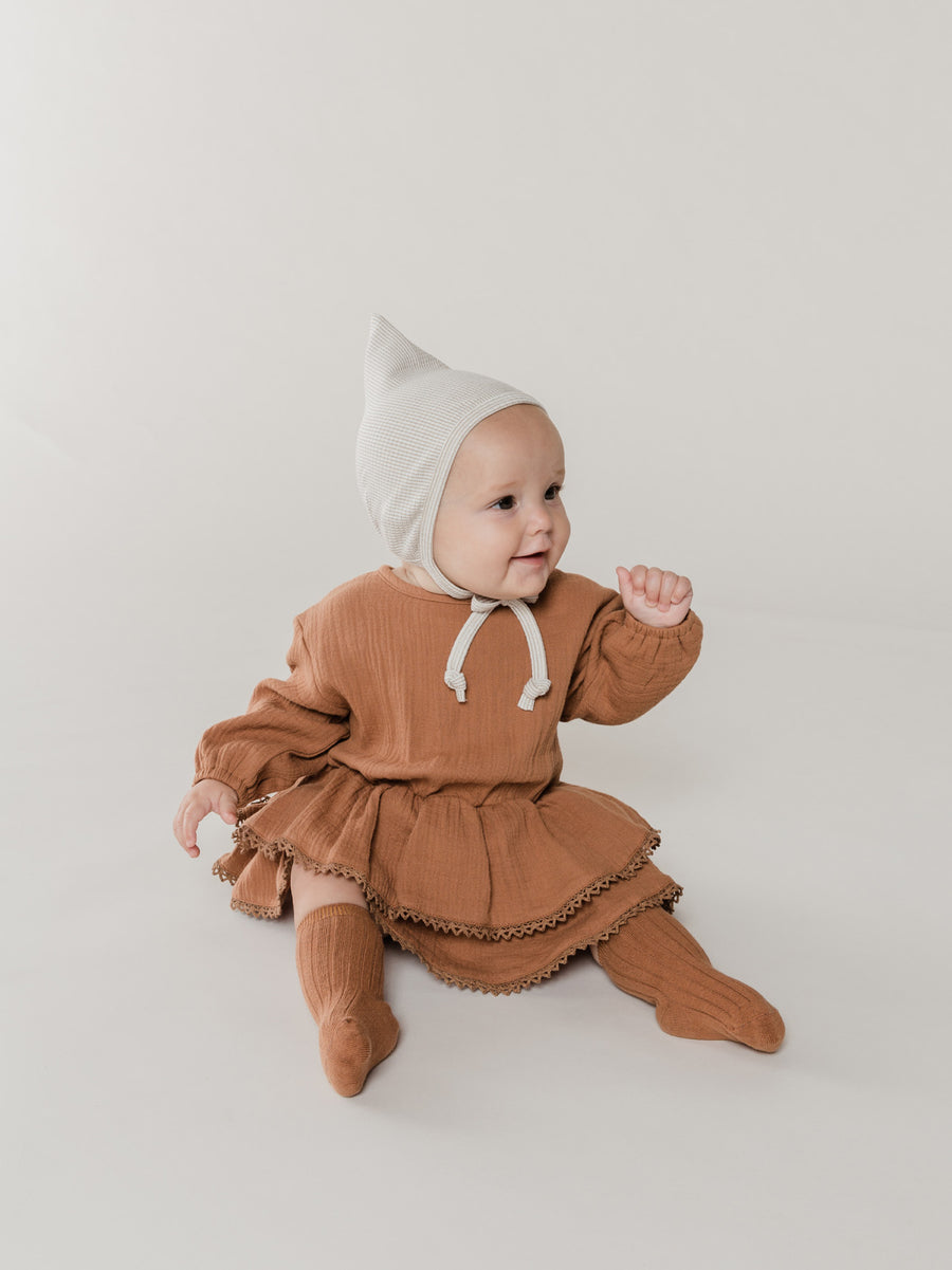 Rosie Romper | rust - Quincy Mae | Baby Basics | Baby Clothing | Organic Baby Clothes | Modern Baby Boy Clothes |