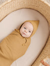 Ribbed Baby Blanket | ochre
