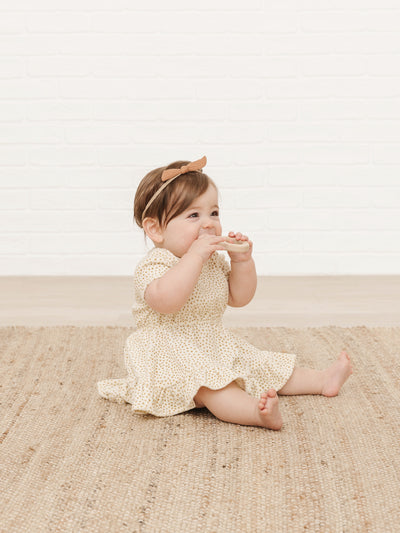 Terry Dress | ivory - Quincy Mae | Baby Basics | Baby Clothing | Organic Baby Clothes | Modern Baby Boy Clothes |