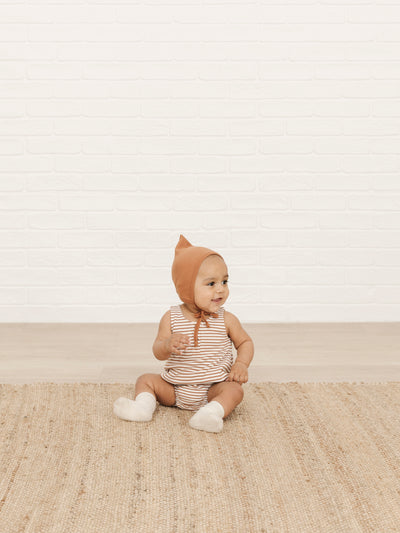 Sleeveless Bubble | rust stripe