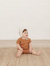 Cinched Woven Tee | rust - Quincy Mae | Baby Basics | Baby Clothing | Organic Baby Clothes | Modern Baby Boy Clothes |