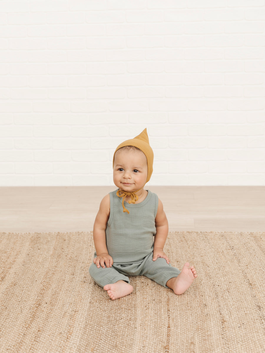 Woven Tank | ocean - Quincy Mae | Baby Basics | Baby Clothing | Organic Baby Clothes | Modern Baby Boy Clothes |