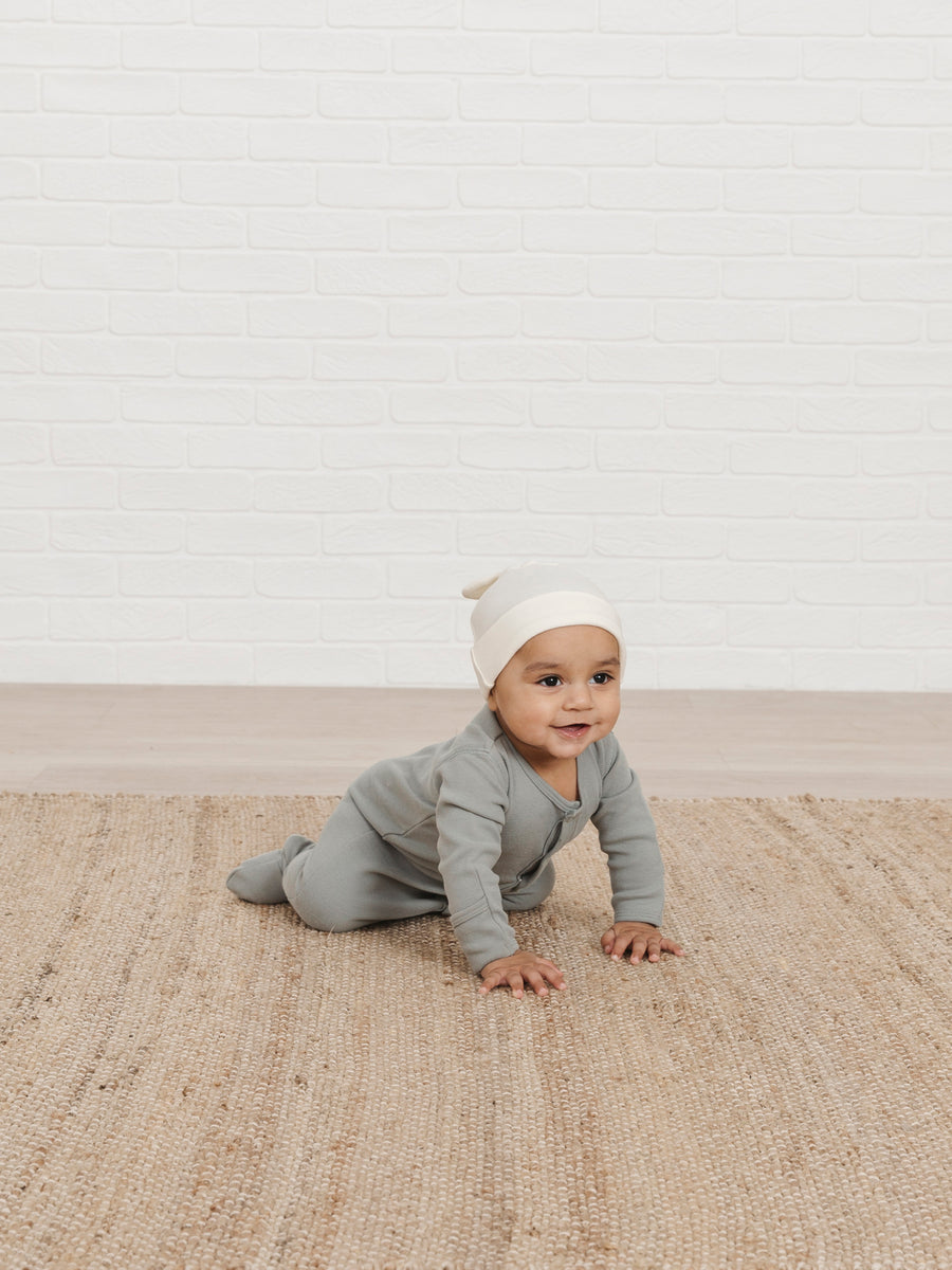 Full Snap Footie | ocean - Quincy Mae | Baby Basics | Baby Clothing | Organic Baby Clothes | Modern Baby Boy Clothes |