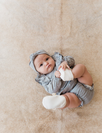 baby turban | dusty blue - Quincy Mae | Baby Basics | Baby Clothing | Organic Baby Clothes | Modern Baby Boy Clothes |