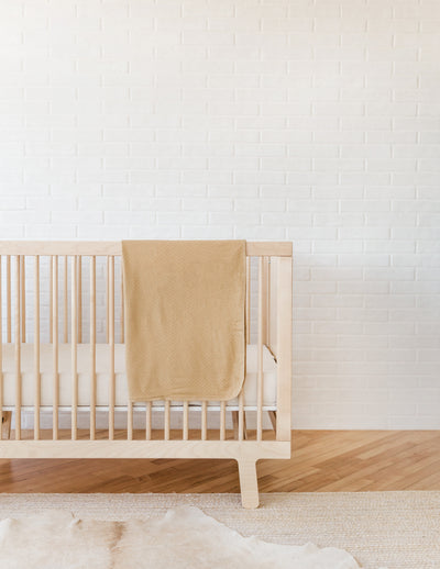 pointelle baby blanket | honey