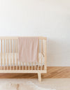 pointelle baby blanket | rose