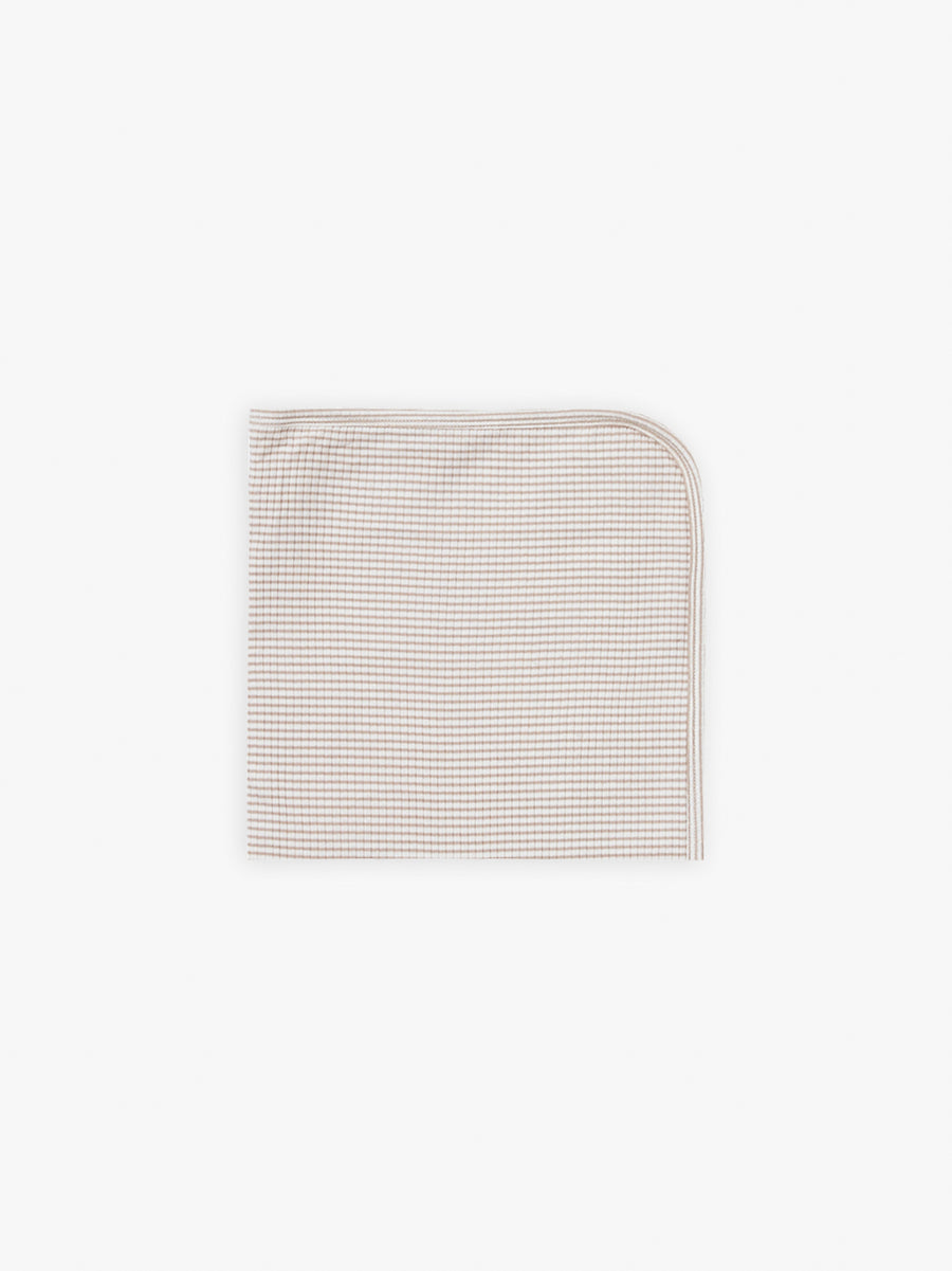 Ribbed Baby Blanket | fog stripe - Quincy Mae | Baby Basics | Baby Clothing | Organic Baby Clothes | Modern Baby Boy Clothes |
